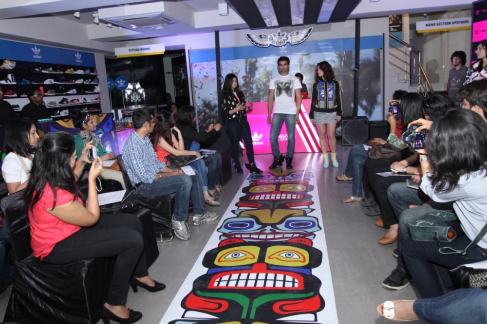 Deepika Deepti, Category Manager Adidas Group interacting with the bloggers