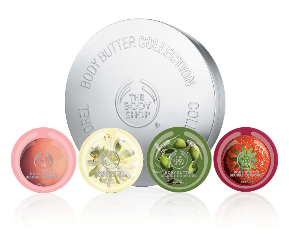 THE BODY SHOP GIFT TIN BODY BUTTER FRUIT