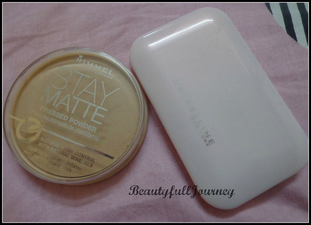 Rimmel stay matte powder - Rs.195/- Maybelline Clear Glow compact - Rs.175/-