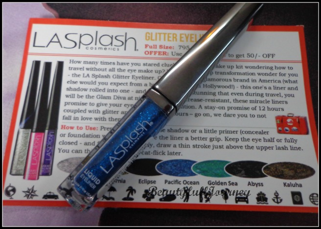 LA Splash glitter eyeliner. Shade - Pacific Ocean Full size(given in box) price: Rs.795/-