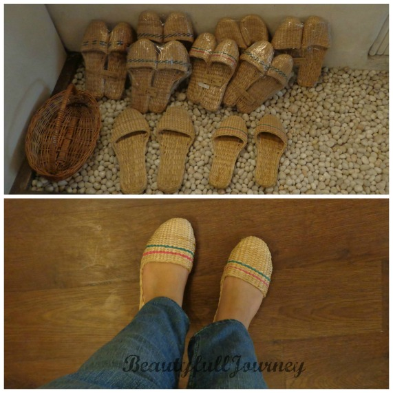 The jute slippers priced between Rs.350-375. Below- me wearing it! It felt super comfy, you have to try it to believe this, seriously! :)